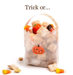 Super fun snack idea---->Candy Corn Puppy Chow Chocolate and peanut butter ....