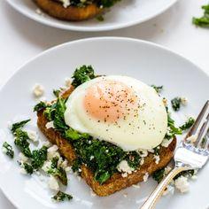 Kale Feta Egg Toast