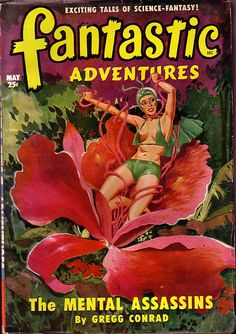 FANTASTIC ADVENTURES | pulp art vintage paperback book cover