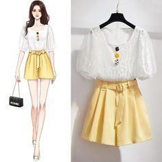 Kpop Fashion Outfits, Korean Outfits, Cute Fashion, Girl Outfits, Diy Fashion, Fashion Drawing Dresses, Fashion Dresses, Pretty Outfits, Cute Outfits