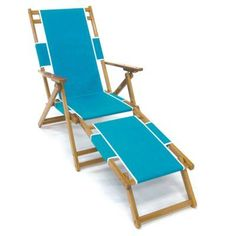Outdoor Frankford Umbrella Commercial Oak Wood Beach Chairs Turquoise - FC101NF-TQA