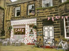 Last of the Summer Wine (TV): Sid's Cafe, photograph, 2014 RedVibe Crafts.  Frame it for displaying.