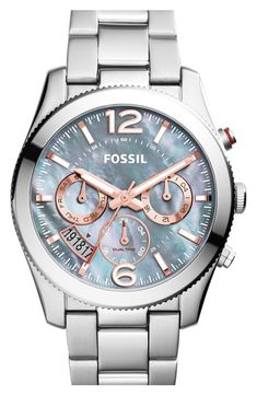 Fossil 'Perfect Boyfriend' Chronograph Bracelet Watch, 40mm Schmuck Marken, Perfect Boyfriend, Fossil Watches, Michael Kors Watch, Perfect Guy, Watches Michael Kors
