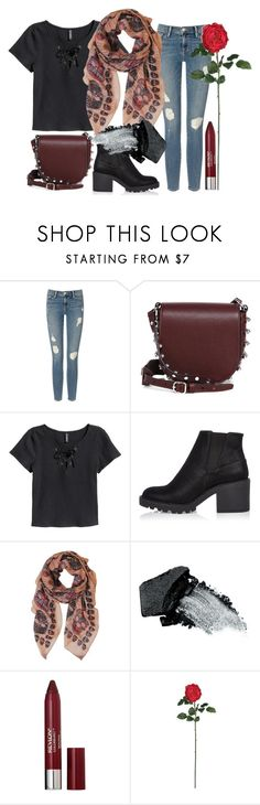"""""""Skulls and a Rose"""" by ewa-kamila ❤ liked on Polyvore featuring Frame Denim, Alexander Wang, H&M, River Island, Humble Chic, Gorgeous Cosmetics, Revlon, Nearly Natural, black and rock"""