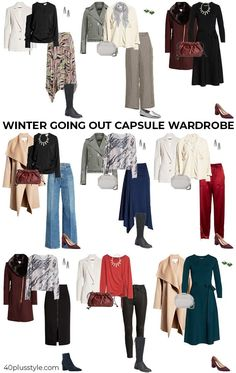 Winter going out capsule wardrobe | 40plusstyle.com