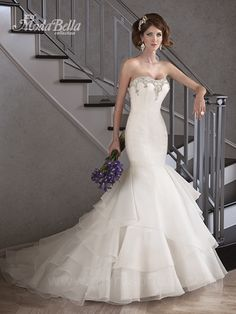 Bridal styles on pinterest mac duggal mermaid gown and for Tight fitted mermaid wedding dresses