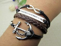 Anchor BraceletSilvery anchor and Infinity cuff by Richardwu, $5.50 Beautiful handmade silver charm bracelet.