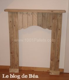 Decorative fireplace from pallet wood