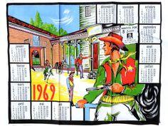 French Vintage 1969 Calendar Kitchen by SouvenirsdeVoyages on Etsy