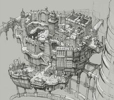 Concept Art for Gravity Rush on PS Vita by PlayStation.Blog.Europe, via Flickr