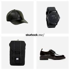 Back in Black: Cap, Uhr, Rucksack und Derbys. Hier entdecken und shoppen: http://sturbock.me/NLF