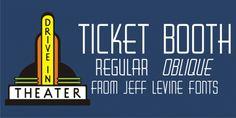 Ticket Booth JNL font download