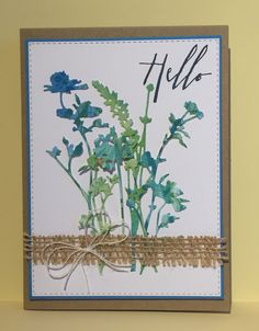 """Uses dies from """"Wildflowers"""" by Tim Holtz/Sizzix. Flowers In Jars, Wild Flowers, Craft Flowers, Card Making Inspiration, Making Ideas, Tim Holtz Stamps, Marianne Design, Stamping Up Cards, Cards For Friends"""