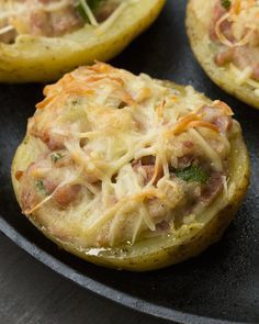 Batata assada com linguiça toscana