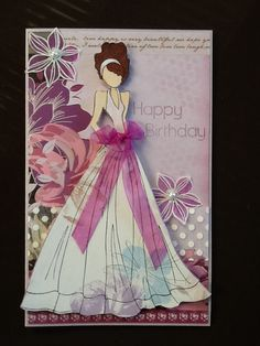 Prima doll - on Kaisercraft violet crush and flowers from Stampin Up's secret garden.