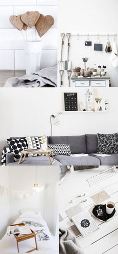 Ya hace tiempo que decidí que mi próximo sofá sería gris oscuro. Pero además me encanta con cojines de motivos geométricos.