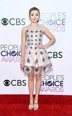 Peyton List from People's Choice Awards 2017 Red Carpet Arrivals