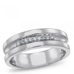 LUX3, Diamond Ring for him, 1/10 ctw. - by Samuels Jewelers