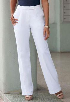 Petite Nassau Easy Care Bootcut Pants