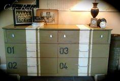 SOLD Military Sportsman Inspired Mid-Century Dresser. $550.00, via Etsy.
