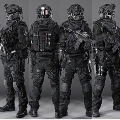 Military In all black