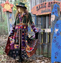 Vintage Magical Hippie Elf Fairy Tale Coat by MajikHorse on Etsy