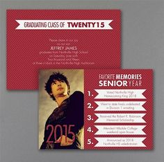 Senior Memories Photo Graduation Invitation