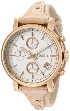 073f5104d4e Fossil Women  Original Boyfriend Chronograph White Dial Sandy Leather Watch  - 17570563 - Overstock - Big Discounts on Fossil Fossil Women  Watches -  Mobile