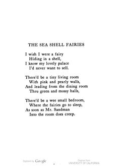 The Sea Shell Fairies Image Of Page 21 Reading Words