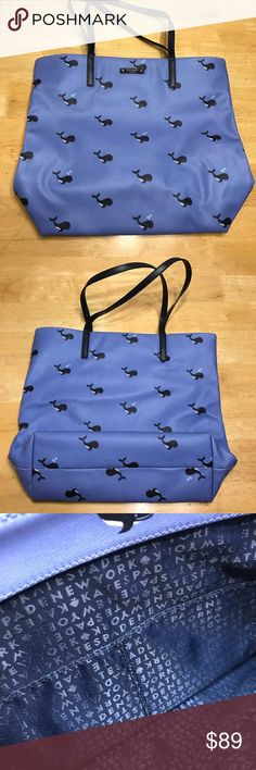 Kate Spade Bon Voyage Shopper Whale Orca 12x16  Like New Condition kate spade Bags Shoulder Bags
