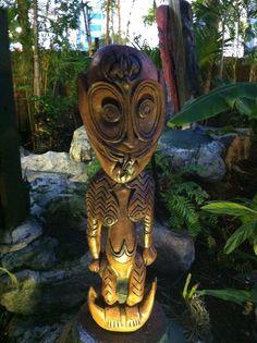 Kai Restaurant, Garden Sculpture, Lion Sculpture, Tiki Statues, Tiki Bar Decor, Gardens, Outdoor Decor, Ideas, Art