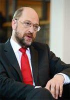 """Präsident des EP Martin Schultz beim Interview in der Tageszeitung """"Ta Nea"""""""