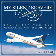 """Aug 24 BIG THANKS to United for feat. 'Drunk Off the Sun' on """"The Hits List"""" all summer at 35K ft in the air! #flyinghigh"""
