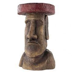 This Polynesian Easter Island Moai Side Table Brings These Legendary Statues into Your Home! • • • • • #moaisidetable #easterislandtable #easterislandsidetable #sidetable #table #moai #easterisland #rapanui #chile #isladepascua #travel #hangaroa #instatravel #memes #travelgram #art #nature #anakena #southamerica #sunset #adventure #ahutongariki #beautiful #ranoraraku Easter Island Moai, Island Table, Home Gadgets, South America, Art Nature, Deco, Statues, Chile, Miniatures