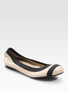 Stuart Weitzman Giveable Nappa Leather Ballet Flats at Saks Fifth Avenue.    I can't afford to like these.