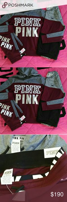"PINK VS RUBY RED SET Pink VS SIZE: Medium Gym pants NWT JACKET never worn Sweater 19.5""across armpit to armpit previously loved No tears, rips,stains GORGEOUS FLAWLESS SET FOR.      YOU         PINK                   VS                         LOVERS PINK Victoria's Secret Other"