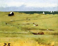 """White Sails,"" Dennis Miller Bunker, 1880-1882, oil on canvas, 11.25 x 14.25"", private collection."