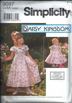 Daisy Kingdom Childs Dress with Matching by DawnsDesignBoutique, $10.00