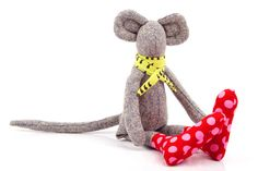 This Friendly Mouse Doll is part of : TIMO-HANDMADE collection; a small design line, all hand-made. Sewn with an eye for detail and a touch for