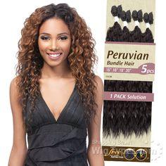 Outre Batik Duo Bundle Synthetic Weave - PERUVIAN BUNDLE HAIR 5PC (16/18/18/20   Parting Piece) [7692] Crochet Braids Hairstyles, Weave Hairstyles, Cool Hairstyles, 2014 Hairstyles, Hair Styles 2014, Curly Hair Styles, Natural Hair Styles, Peruvian Weave, Outre Wigs