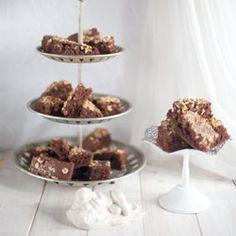 Sunday's surprise - Eggless Chocolate Cake With Hazelnut Topping