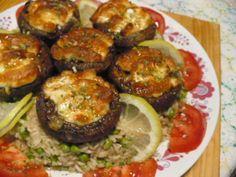 Egy finom Töltött sült sampion Sprouts, Vegetables, Ethnic Recipes, Food, Veggies, Essen, Vegetable Recipes, Brussels Sprouts, Yemek