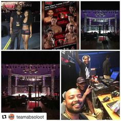 My boys KILLIN the set-up and #entertainment for @fighttimepromotions MMA fights tonight in #ftlauderdale! The energy is #hype and our #dj is bringing down the house. What would your entrance song be?  #dj #lighting #lightingdesign #audiovisual #av #wedothis #team #squadgoals #MMA #fights #happingnow #tgif #thisweekend #awesome #fridaynight #truss #allofthelights #soundboard #octagon #southflorida #weddingvendor #eventplanner #corporateevents #birthday #creator
