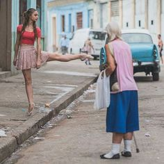 Ballet Dancers Practicing On The Streets Of Cuba By Photographer Omar Robles