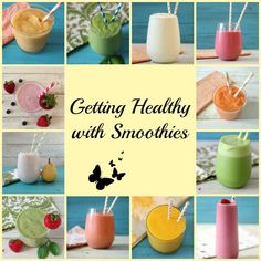 Getting Healthy with Smoothies- I love a good smoothie for breakfast, lunch or snack time. Here is a round-up of my favorite smoothie recipes.