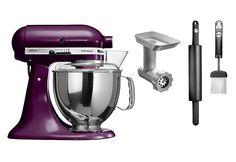 KitchenAid® Küchenmaschine Artisan 5KSM150PS, holunder, inkl. Gratis Zubehör,