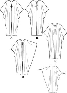 how to make a kaftan dress - Simplicity 5788 Diy Clothing, Sewing Clothes, Clothing Patterns, Dress Patterns, Sewing Patterns, Sewing Hacks, Sewing Tutorials, Sewing Projects, Ideas Joyería