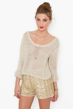 Gold Dust Sequin Shorts