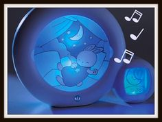 Kid Sleep Moon Night Light and Alarm Clock for Toddlers
