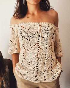 Love Crochet, Beautiful Crochet, Diy Crochet, Crochet Top, Crochet Skirts, Crochet Cardigan, Crochet Clothes, Clothing Patterns, Dress Patterns